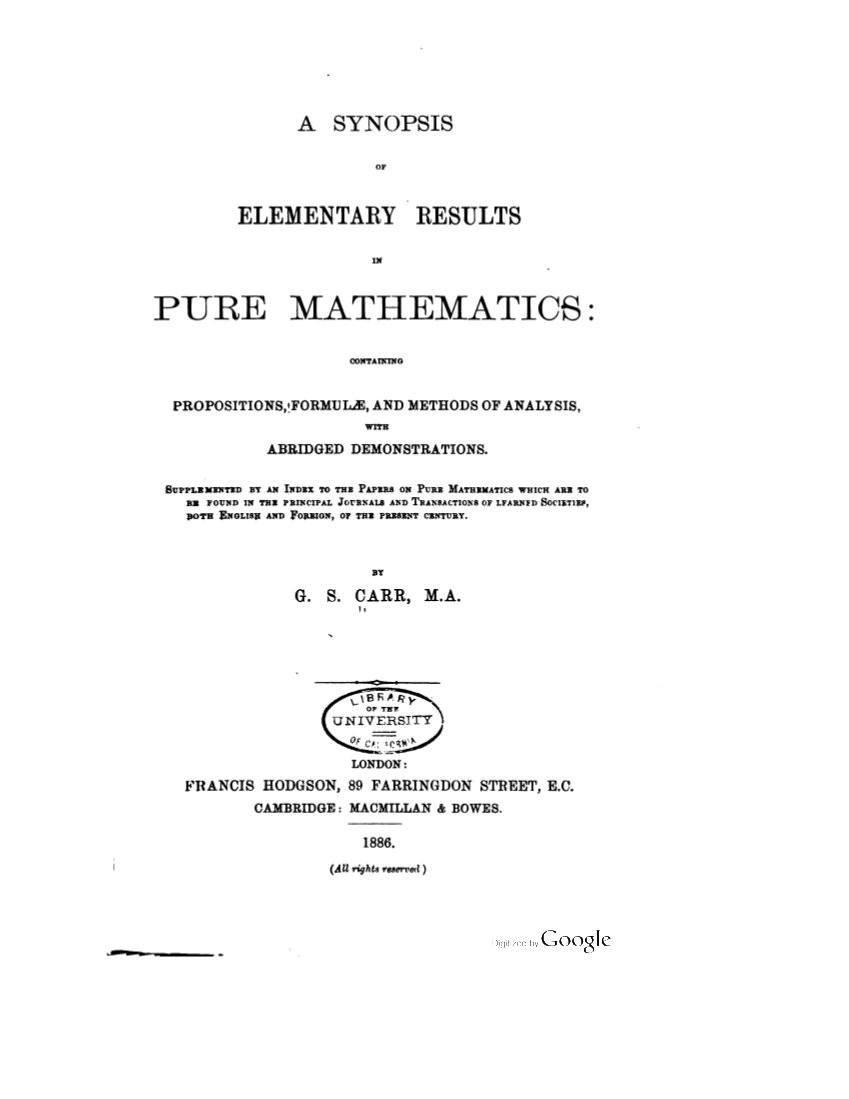 Carr Title Page